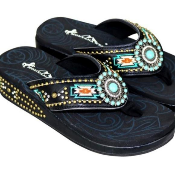 Flip Flops Wedge Sandals Aztec   Poshmark
